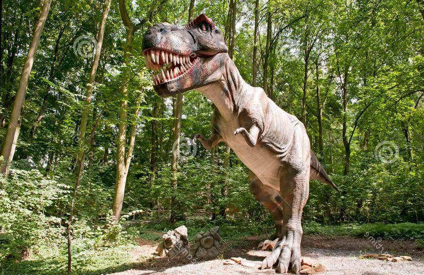 Тираннозавр в парке
