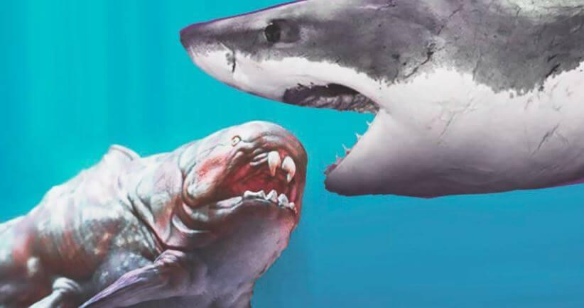 Охота на доисторичесую акулу