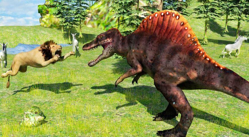 bitva spinozavra Спинозавр