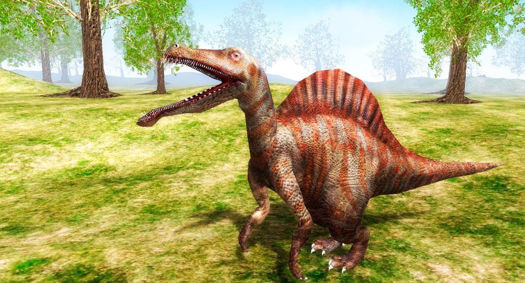spinozavr s otkrytoy pastyu Спинозавр