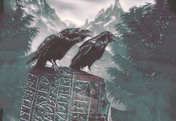 Хугин и Мунин вороны мифологии